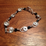 wire worked spiral bracelet