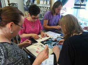 class at Artistic Touch Beads Millville NJ